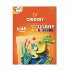 Blocchi Canson Kids Colorati 10 ff 185 gr. 24x33