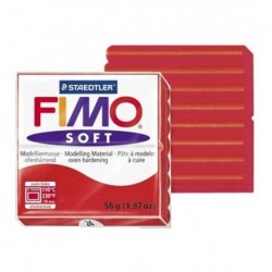Fimo Soft 24 56 gr. Rosso indiano