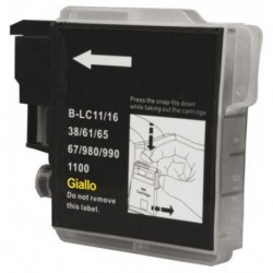 Inkjet WA Brother LC980 LC1100 Giallo Compat.